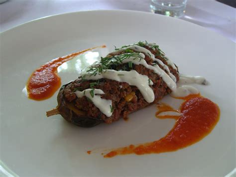 ottoman restaurant barton file karniyarik eggplant stufed with minced lamb