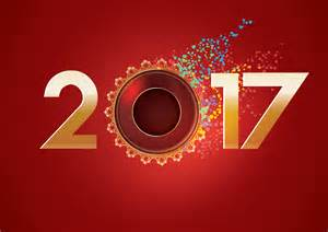 2017 new year greeting wallpaper