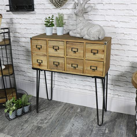 Wooden Drawer Storage Unit by Brown Wooden 8 Drawer Sideboard Storage Unit Melody Maison 174