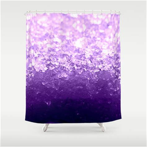 ombre purple shower curtain lavender purple ombre crystals shower from society6