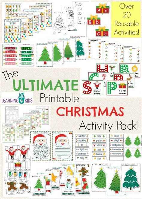 educational christmas games printable the ultimate christmas printable activity pack learning