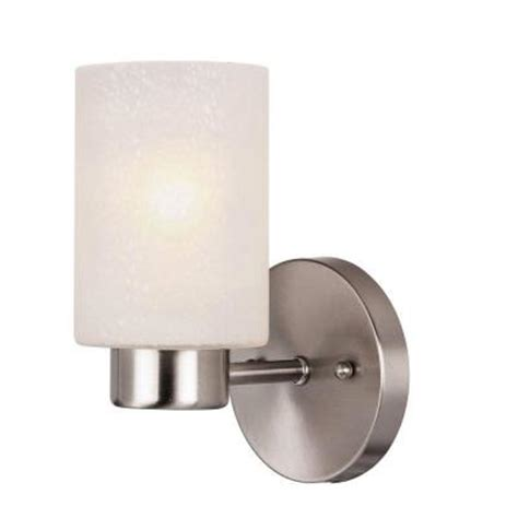 home depot interior light fixtures westinghouse sylvestre 1 light brushed nickel wall fixture
