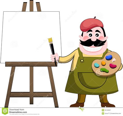 artists clipart palette clipart easel pencil and in color palette
