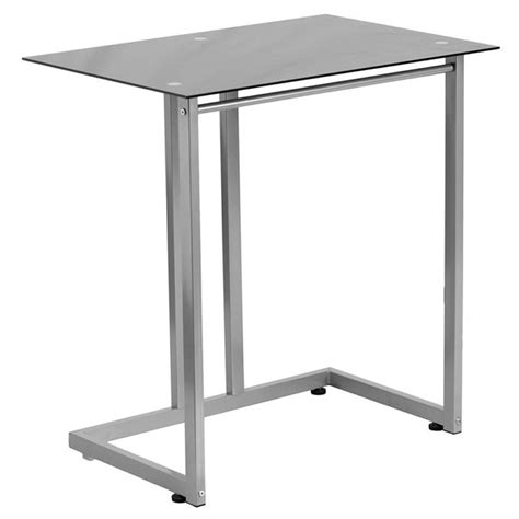 Tempered Glass Desk by Tempered Glass Computer Desk In Black Nan 2905 Gg
