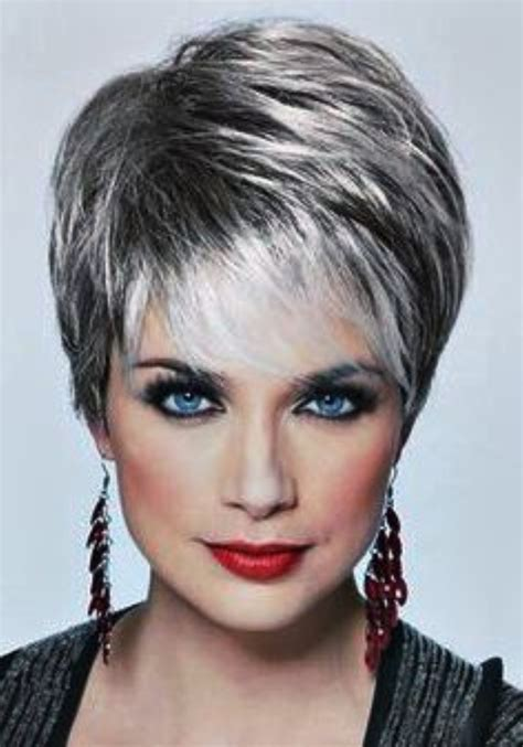 short haircuts for fine grey hair beautiful short bob hairstyles and haircuts with bangs