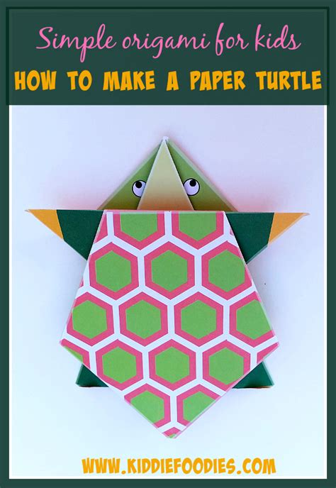 Simple Origami Tutorial - simple origami for how to make a paper turtle