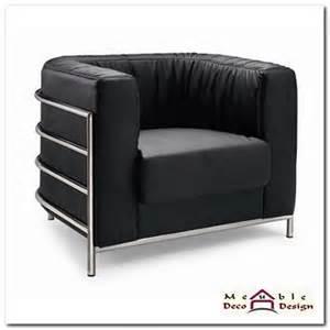fauteuil design cuir noir