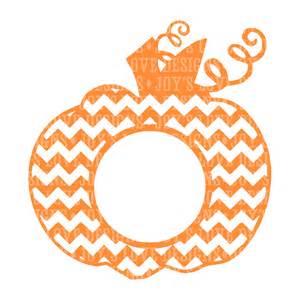 chevron monogram pumpkin svg and dxf digital