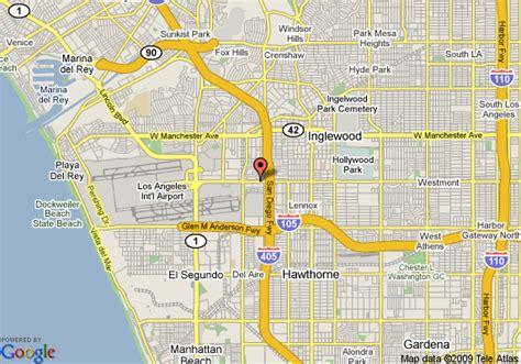 california map la quinta map of la quinta inn and suites lax los angeles