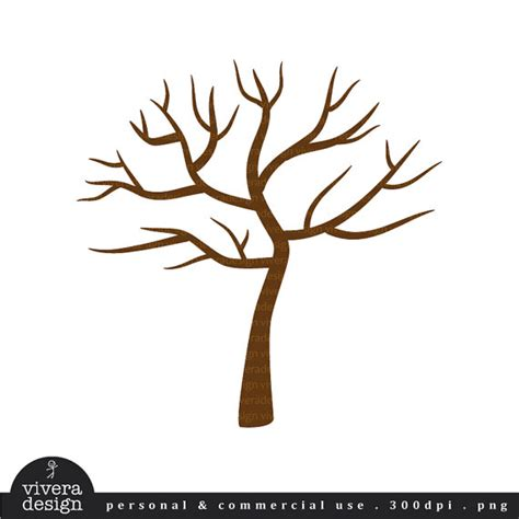 digital clip art tree with no leaves winter tree by