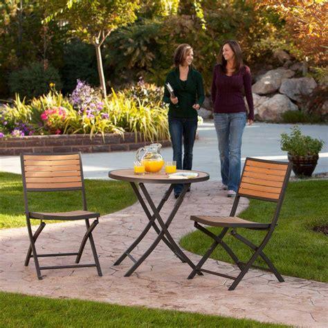 lifetime 3 folding patio bistro set 60074u the