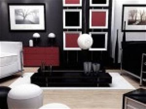 Deco Salon Noir Blanc Rouge