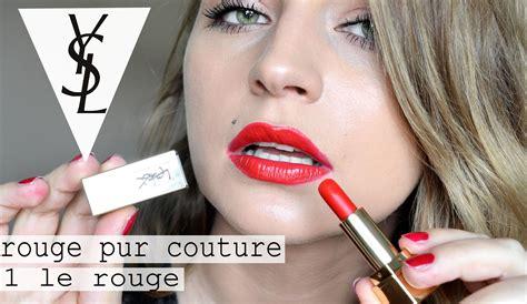 Ysl Pur Couture No 1 Le szminka ysl pur couture le 笙 test na 蠑ywo