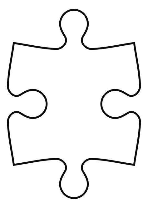 large puzzle piece template cliparts co