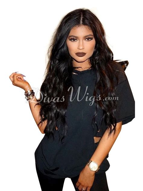 long black curly human hair wig kylie jenner inspired long black wavy human hair lace