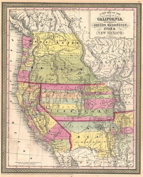 map of oregon and california a new map of the state of california the territories of