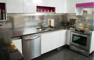 Trends In Kitchen Backsplashes Aluminum Checkerplate Backsplash Panel By Ridalco