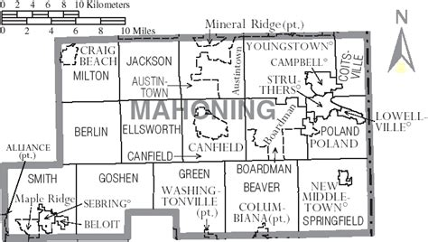 Mahoning County Records File Map Of Mahoning County Ohio With Municipal And Township Labels Png Wikimedia