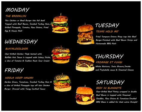 Top Bar Burger Menu by Is Burger Junkyard