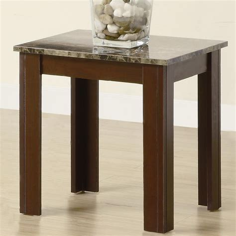 Marble End Table Set by Coaster Jovana 700395 Brown Marble Coffee Table Set A Sofa Furniture Outlet Los Angeles Ca