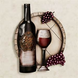 Wine Wall Decor by Cellar Reds Wine And Grape Metal Wall