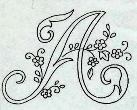 lettere d da copiare alfabeto da ricamare con ricamo classico paperblog
