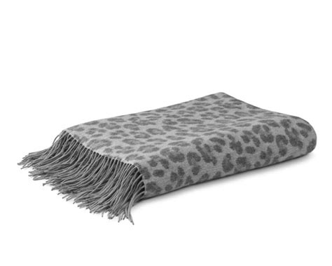 grey patterned throws cheetah patterned jacquard cashmere throw grey williams