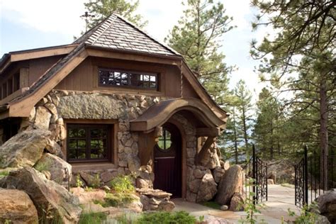 tiny houses colorado a small stone guest cottage in colorado