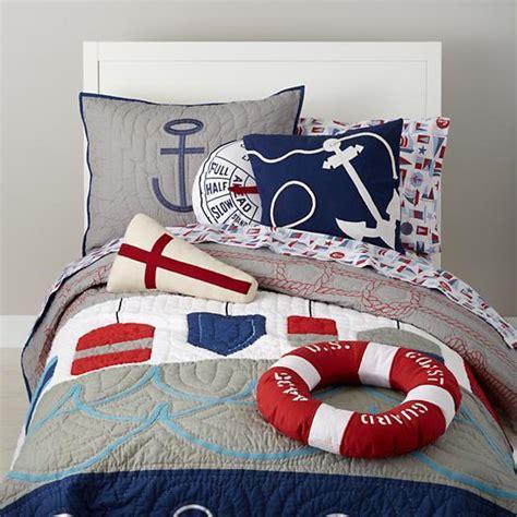 nautical bed sheets nautical buoy bedding set the land of nod