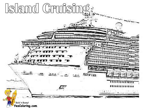 Stupendous Cruise Ship Coloring Pages Free Ship Cruise Ship Coloring Page