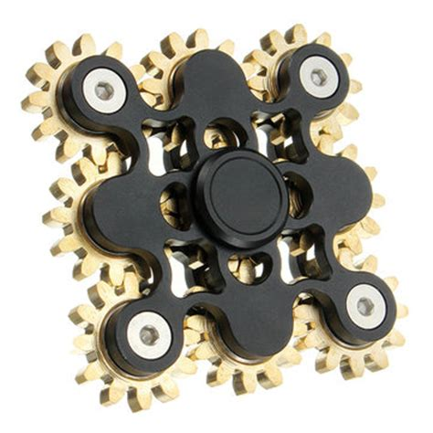 5 Gear Fidget Spinner Edc Fidget Spinner ecubee edc 9 gear spinner gadget finger spinner fidget focus reduce stress gadget black