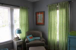 Orange Nursery Curtains Teal Blue Lime Green Bright Orange Modern Boy Nursery Chevron Patterned Curtains Future