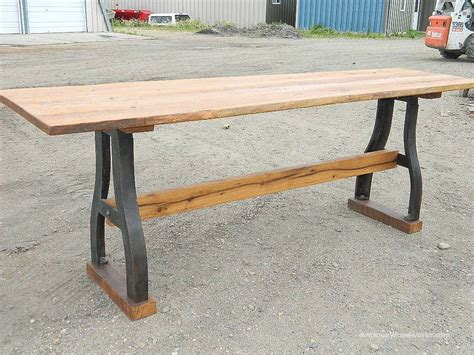 industrial bar height table communal bar height industrial table antique woodworks