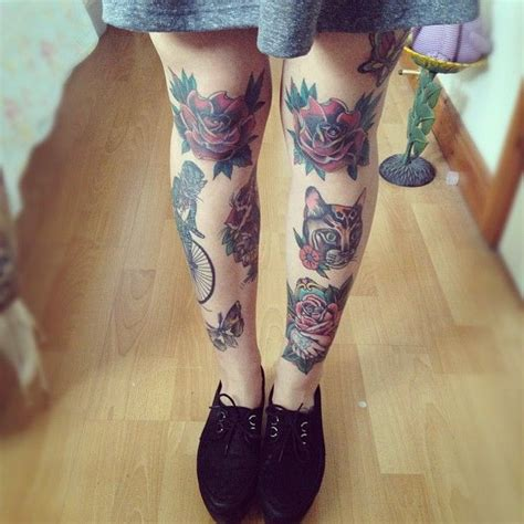tattoos on leg for ladies knee tattoos 187 gt pessoas e tatoos leg