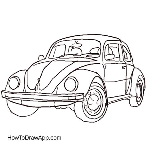 volkswagen bug drawing how to draw a volkswagen beetle aka volkswagen bug
