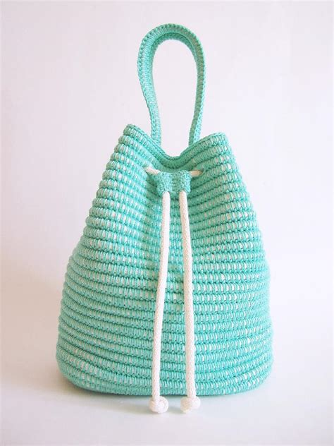 pattern crochet string bag drawstring bag crochet pattern by chabegs knitting