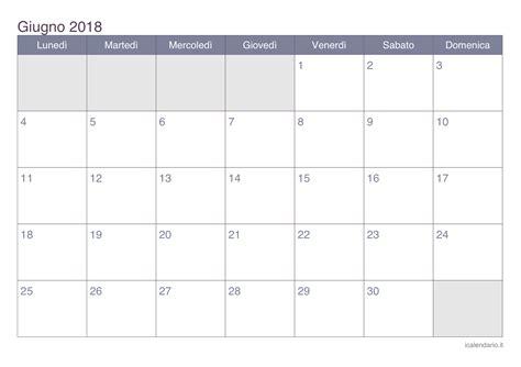 Calendario 2018 Giugno Calendario Giugno 2018 Da Stare Icalendario It