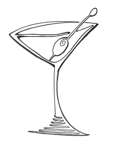 martini cartoon clip purple clipart martini glass pencil and in color purple