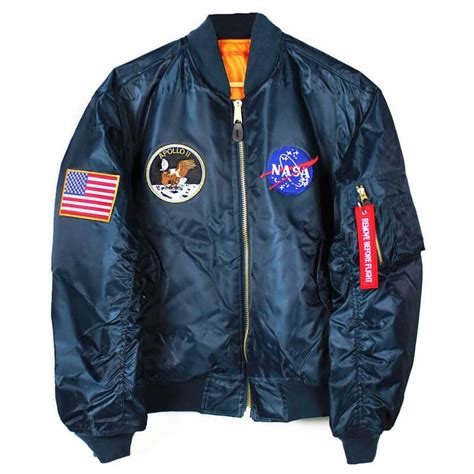 Jaket Bomber Kanvas Crew Bomber Patch Bordir the best nasa astronaut bomber flight jackets geekwrapped