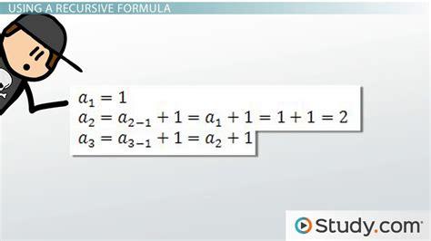 define recursive pattern in math recursive formula symbols