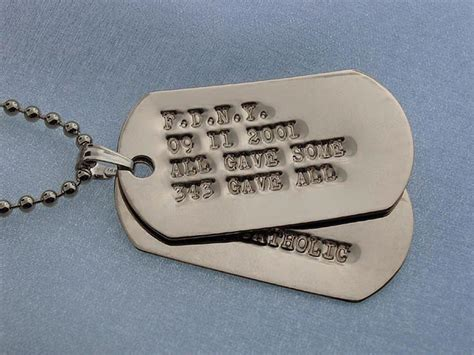 army tags white gold tags engraved white gold tags size medium small 14k