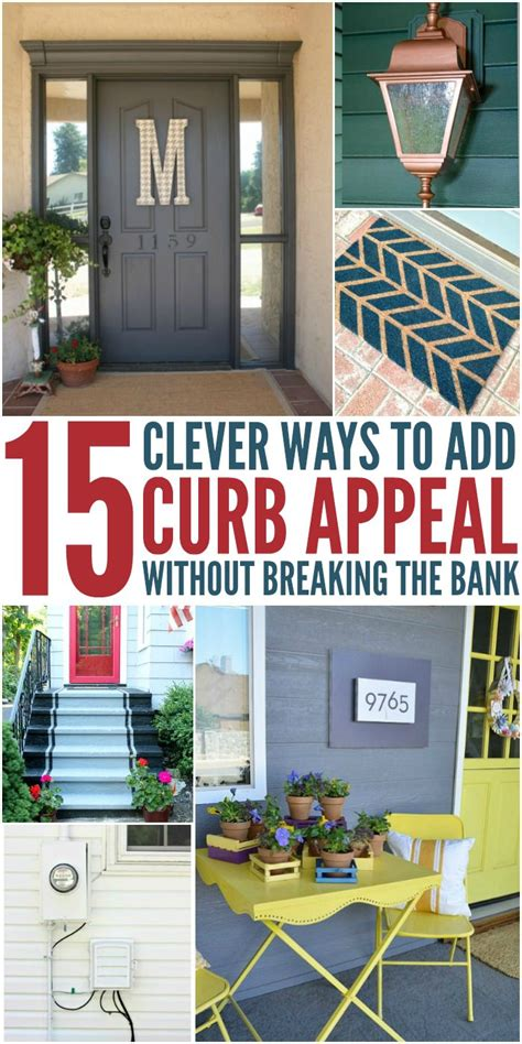 ways to add curb appeal 15 clever ways to add curb appeal without breaking the
