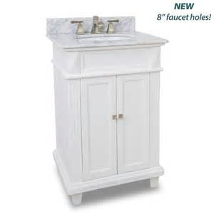 24 Inch Bathroom Vanities And Cabinets by Elements Van094 T Mw Painted White White Marble Douglas