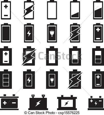 battery vector set for your design vector illustration