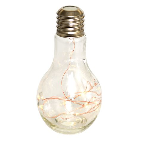 Battery Operated Led Light Bulb Light Bulb Table L Rex At Dotcomgiftshop
