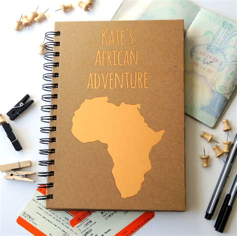 personalised destination travel journal by the alphabet