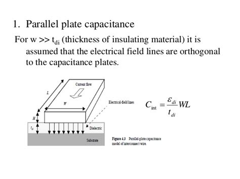 mos capacitor comsol fringe capacitance of a parallel plate capacitor 28 images interconnect via ppt 1