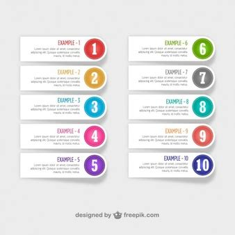 Number Vectors Photos And Psd Files Free Download Number Labels Template