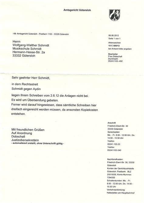 Anlagen Zur Bewerbung Englisch Die Weitere Anspruchsbegr 252 Ndung An Das Gericht Vom 2 06 2012