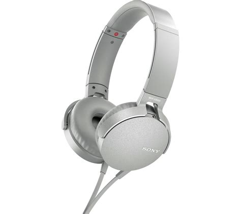 Headphone Sony Bass Mdr 10 Rc buy sony bass mdr xb550ap headphones white free delivery currys